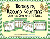Monkeying Around Counting with Ten Frames {Subitizing}
