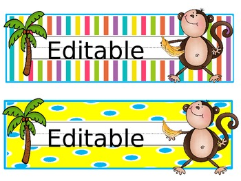 Monkeying Around (Editable Nameplates and Tags)