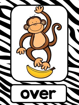 Monkeying Around! - Jungle Themed Positional Words Posters Full and Mini Size