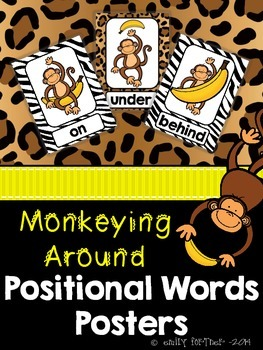 Monkeying Around! - Jungle Themed Positional Words Posters