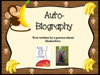 Monkeying Around Themed Book Genre Informative Posters