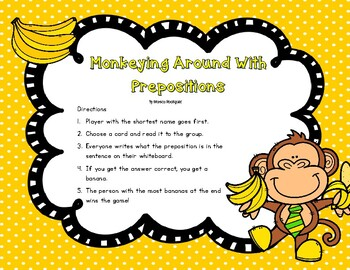 Monkeying Around With Prepositions
