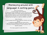 Monkeying Around with Language Game - Nouns Verbs Adjectiv