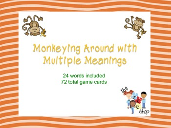 Monkeying Around with Multiple Meanings