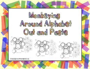 Monkeying around Alphabet Cut and paste