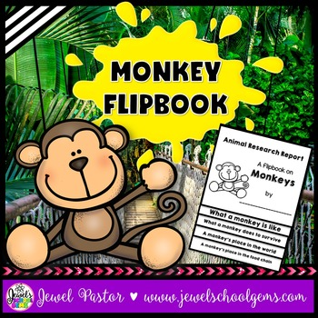 Monkey Science Activities (Monkey Research Flipbook)