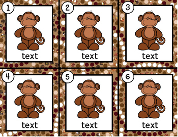 Monkeys~ Editable Write the Room