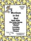 Monkeys In the Bed Basic Skill File Folder Games