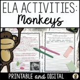Monkeys Informative Writing Prompt and Reading Passage wit