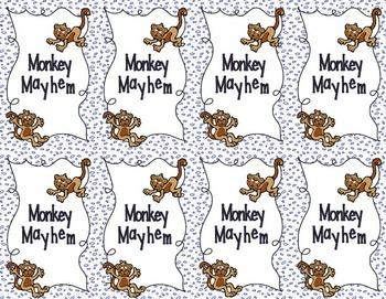 Monkey's Mayhem Card Game: Multiplication Patterns with Decimals