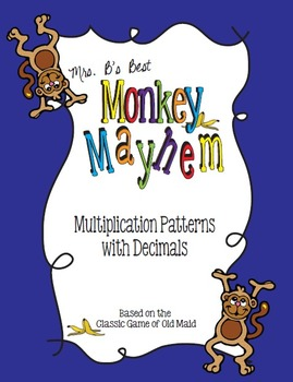 Monkey's Mayhem Card Game: Multiplication Patterns with Decimals