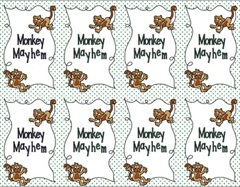 Monkey's Mayhem Card Game: Rounding Practice