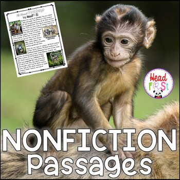 Monkeys Nonfiction Guided Reading Comprehension and Fluency Passages