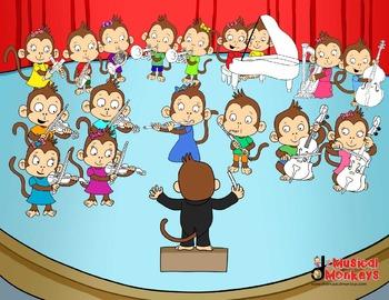 Monkeys Orchestra Practice Chart