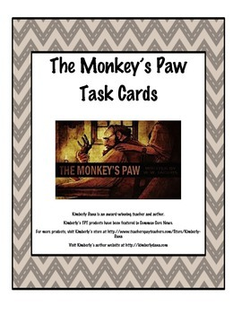 The Monkey's Paw Task Cards
