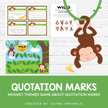 Monkey Quotation Marks Board Game