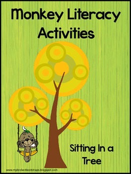 Literacy Activities and Book - Five Little Monkeys Sitting