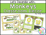 Monkeys Classroom Decor