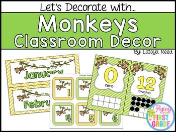 Monkeys Classroom Decor