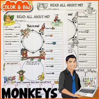 Monkeys All About Me Poster