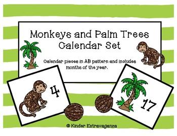 Monkeys and Palm Trees Calendar Set