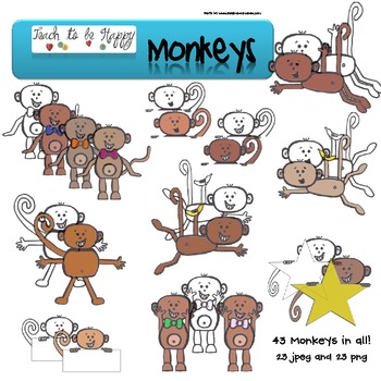 Monkeys clip art and graphics