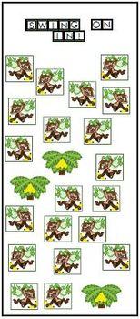 Monkeys printable activities door theme decor