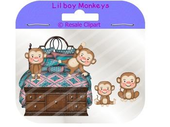 Monkies in bedroom