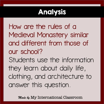 Life in the Middle Ages: Lesson Plan, Activity and Project