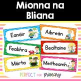 Míonna na Bliana - Months of the Year as Gaeilge