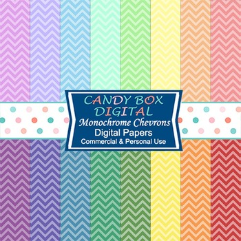 Rainbow Chevron Digital Background Papers