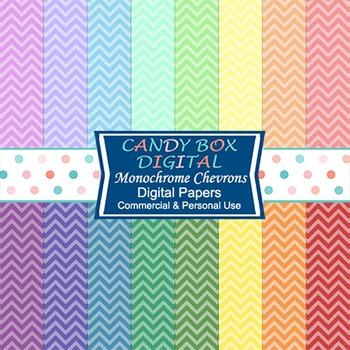 Rainbow Chevron Digital Background Papers