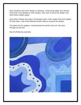 Monochromatic Colours!! Art Lesson!!