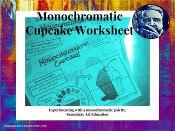 Monochromatic Cupcake Worksheet
