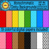 Monochromatic Dotty Backgrounds- Digital Papers