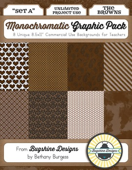 Monochromatic Graphic Pack: Set A {The Browns}