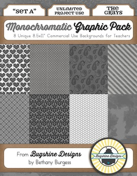 Monochromatic Graphic Pack: Set A {The Grays}