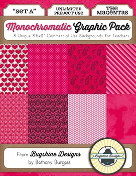 Monochromatic Graphic Pack: Set A {The Magentas}