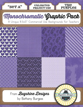 Monochromatic Graphic Pack: Set A {The Purples}