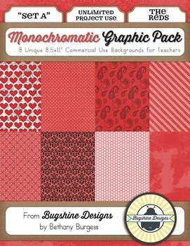 Monochromatic Graphic Pack: Set A {The Reds}