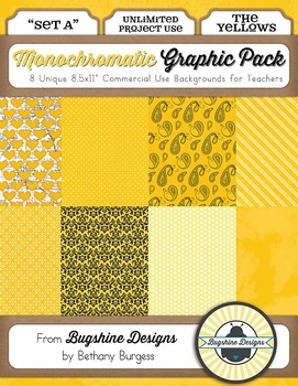 Monochromatic Graphic Pack: Set A {The Yellows}