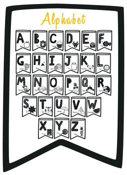 Monochrome Classroom Decor - Alphabet