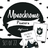 Monochrome Classroom Decor - Inspirational Posters Black a