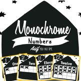 Monochrome Classroom Decor - Numbers 1-20 in Ten frame