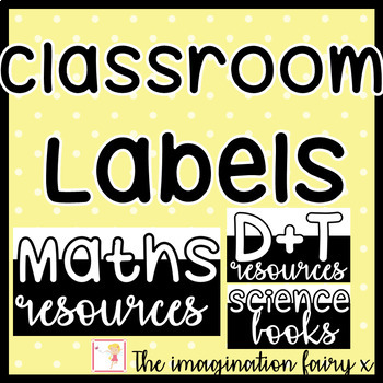 Monochrome Classroom Labels