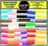 Monochrome Document Covers Clip Art Bundle {Educlips Clipart}