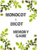 Monocot and Dicot Memory Game