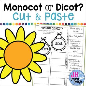 Monocot or Dicot? Cut and Paste Sorting Activity