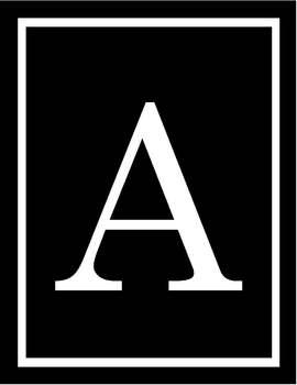 Monogram Art - Traditional Black & White