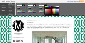 Monogram Blogger Template Blog Theme